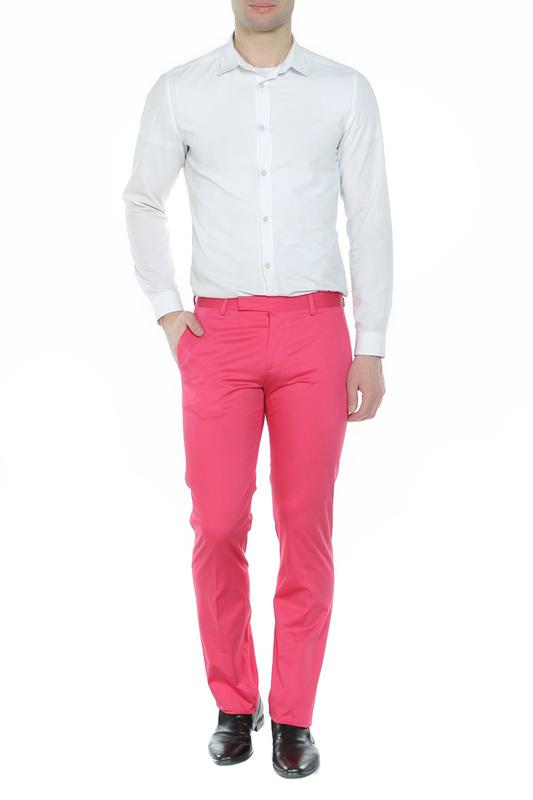 Розовые хлопковые брюки