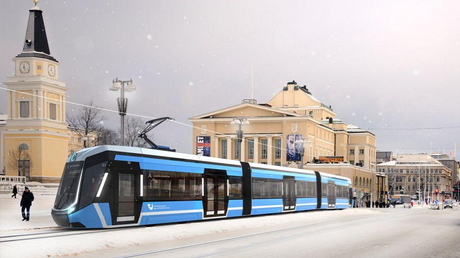 Дизайн трамвайных путей