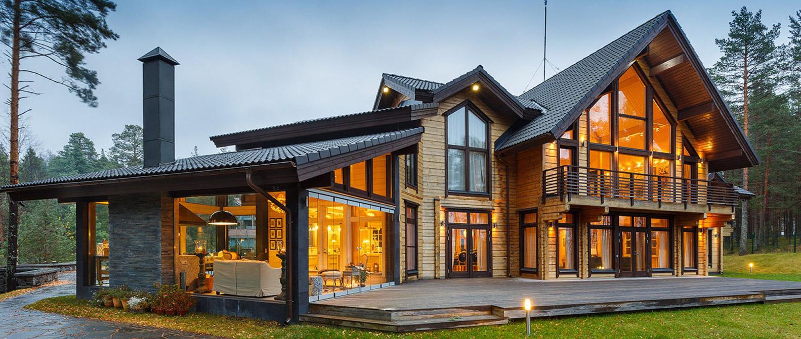 Из чего строят дома в финляндии