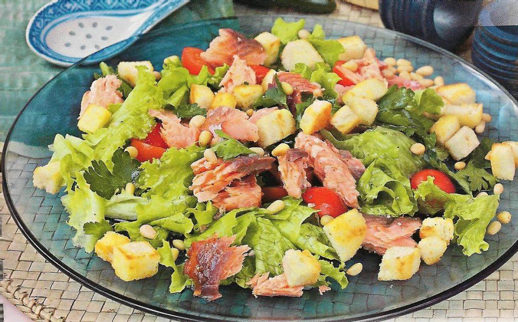 Финский салат из лосося