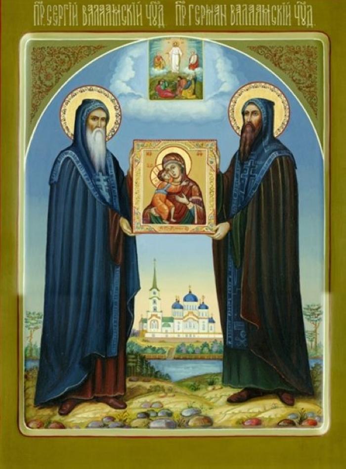 икона преподобных Сергия и Германа Валаамских.
