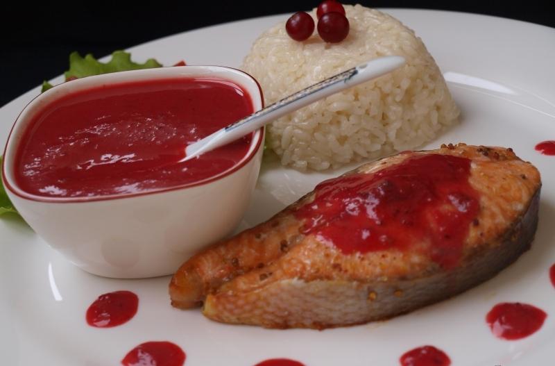 Клюквенный соус к мясу и рыбе