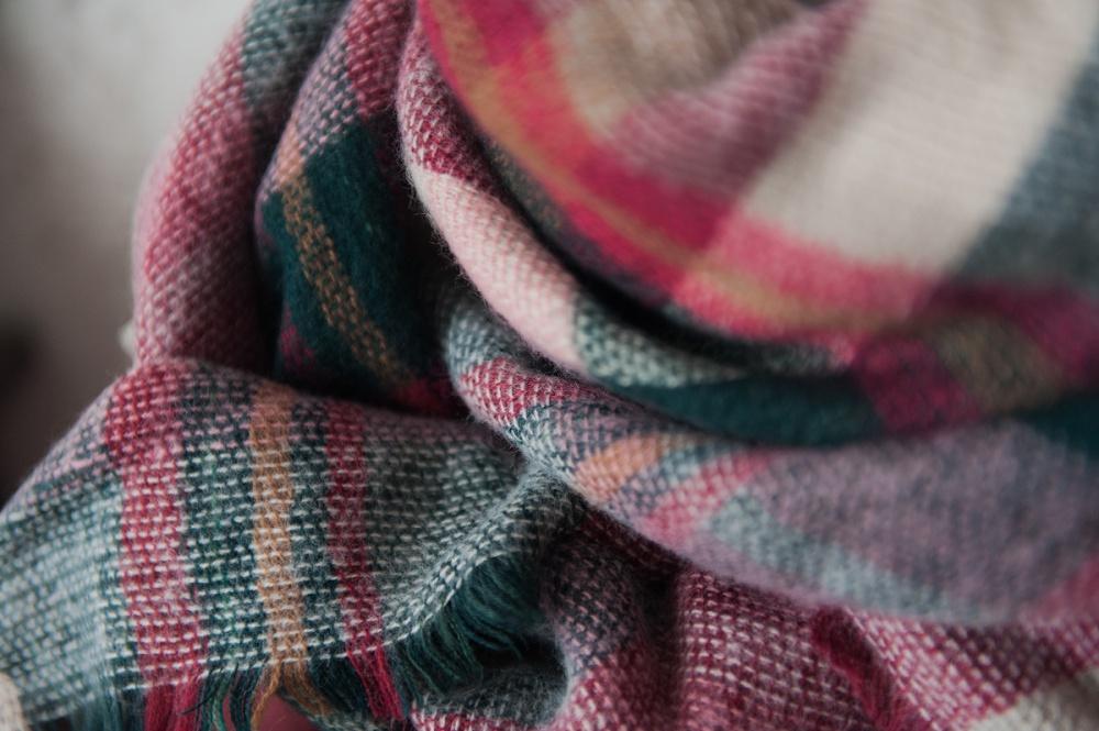 клетчатые шарфы