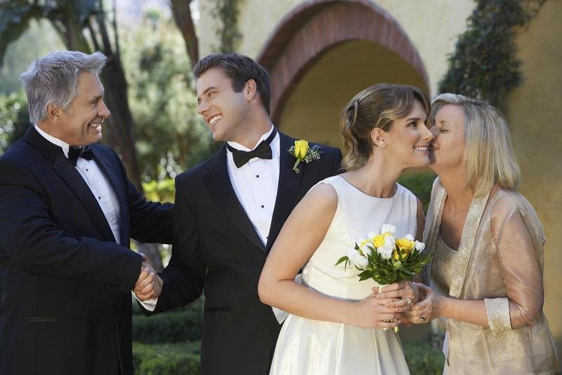 Благодарение родителей после свадьбы
