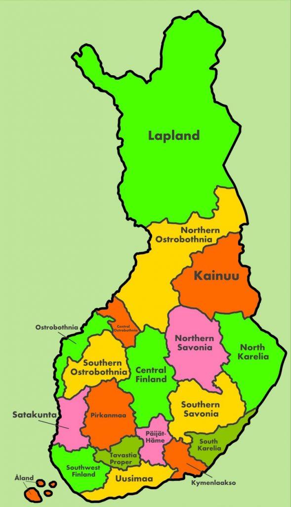 Провинции и регионы Финляндии