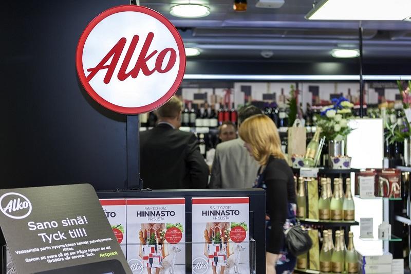 Алко магазин в Финляндии