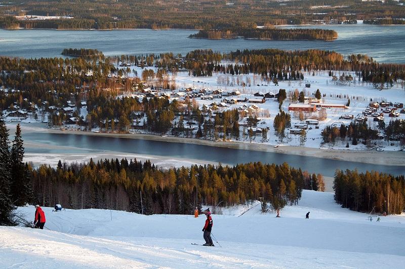 Туристы в Тахко Финляндия