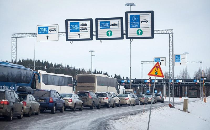 Пробки на русско-финской границе