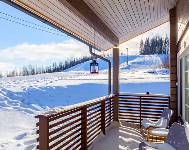 Коттедж на горнолыжном курорте в Финляндии