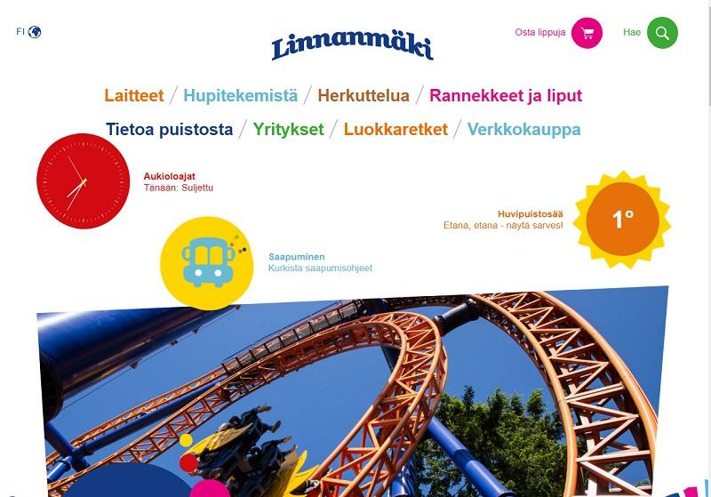 Сайт парка Линнанмяки