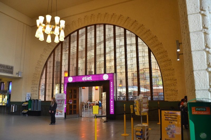 Кафе на центральном вокзале Хельсинки