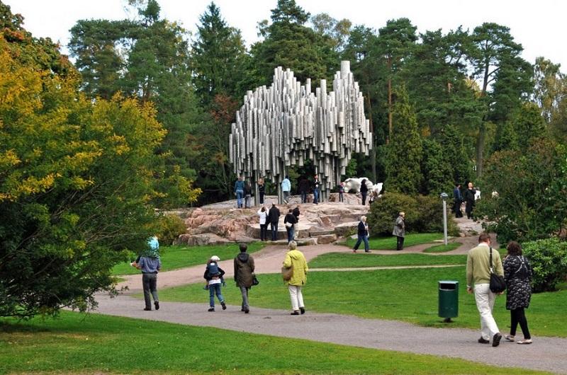 Парк Сибелиуса в Хельсинки