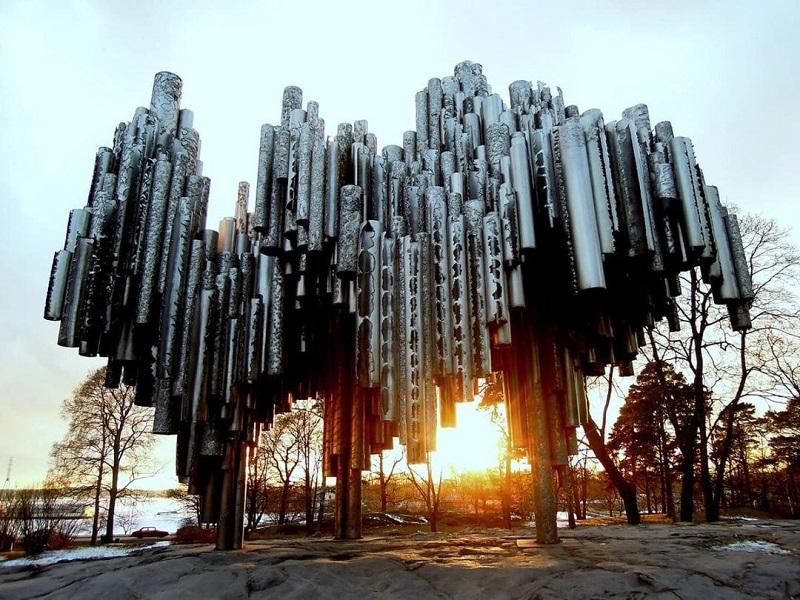 Памятник Сибелиусу Хельсинки