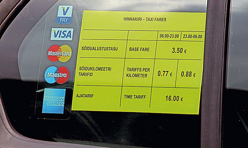 Возможности оплаты такси в Финляндии