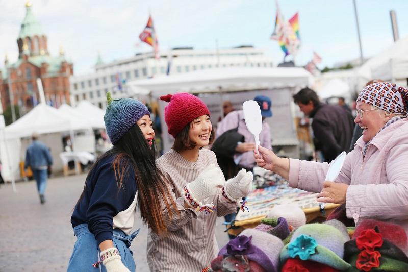 Туристы в Финляндии