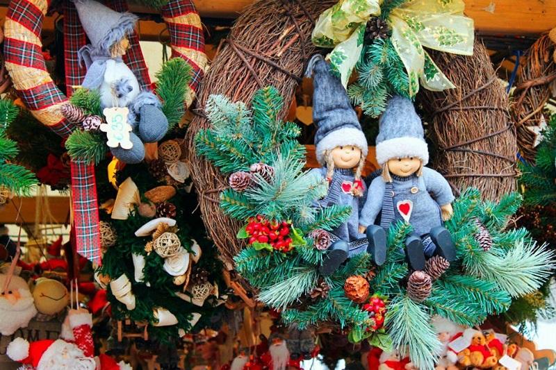 Украшения новогодней Финляндии