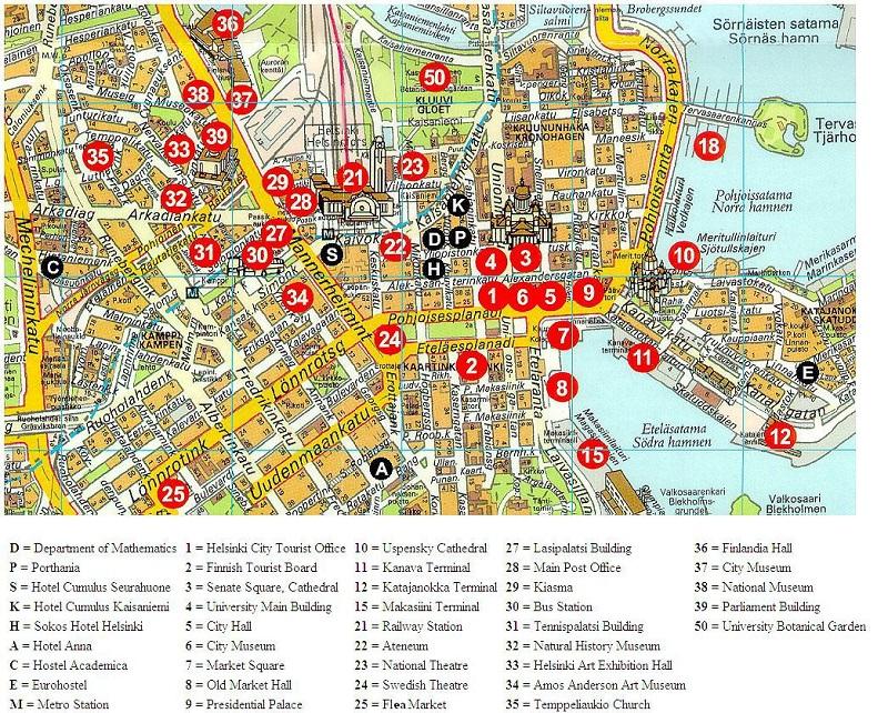 Карта путешественника по Хельсинки