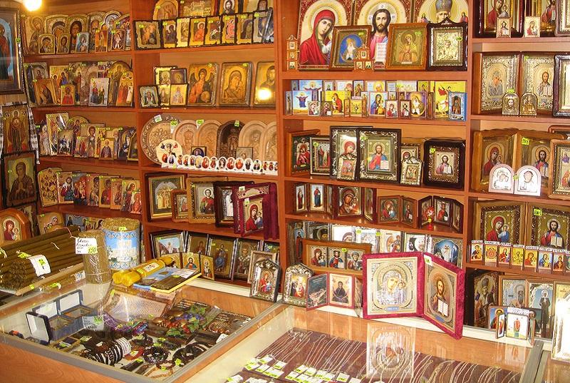 Магазин в Покровском монастыре Брата Харитона