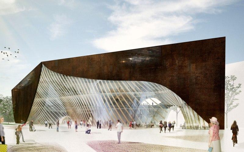 Современный арт-объект в Хельсинки