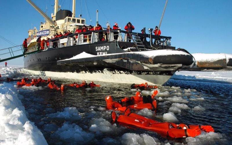 Озеро Сайма арктический ледокол Сампо