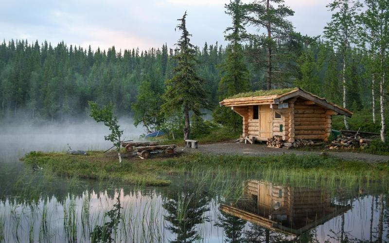 Озеро Сайма рыбацкие хижины