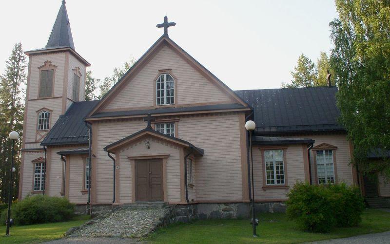 Достопримечательности Миккели, Финляндия деревянная лютеранская церковь