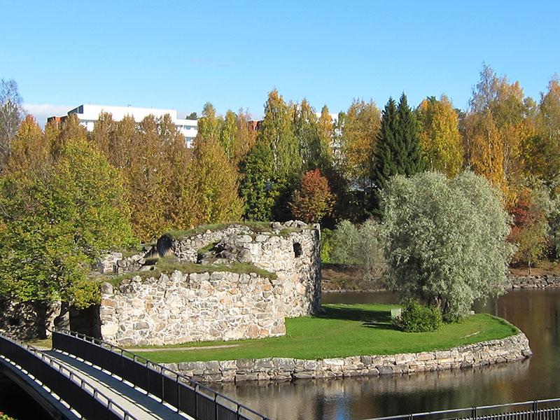 Каяни - рыболовная столица Финляндии крепость